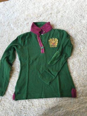 Polo Shirt mit langen armen und Patches von joules