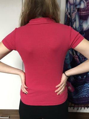 Polo Shirt mit V-Ausschnitt Größe M