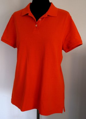 Polo Shirt Orange Landsend Knopfleiste