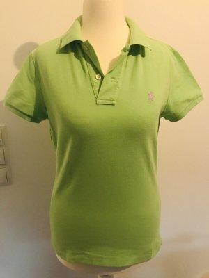 Ralph Lauren Camiseta tipo polo verde pradera