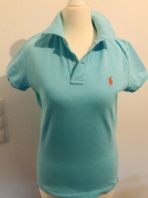Ralph Lauren Camiseta tipo polo azul bebé