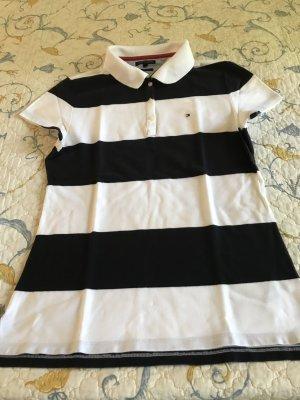 Polo-Shirt Tommy Hilfiger Gr. L, gestreift Navy-weiß
