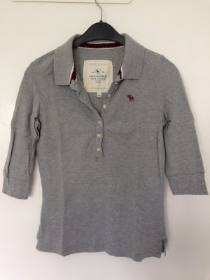 Abercrombie & Fitch Polo gris-bordeau