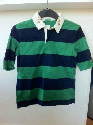 Polo Shirt von Benetton grün blau Gr. S