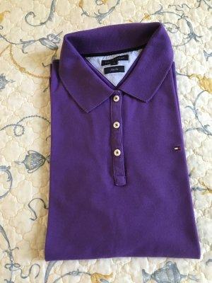Polo-Shirt von Tommy Hilfiger Gr. L(40) lila