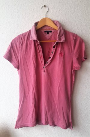 Polo Shirt von Tommy Hilfiger Used Look Rosa