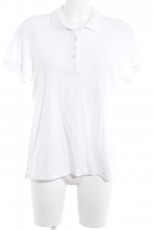 Polo Shirt white casual look