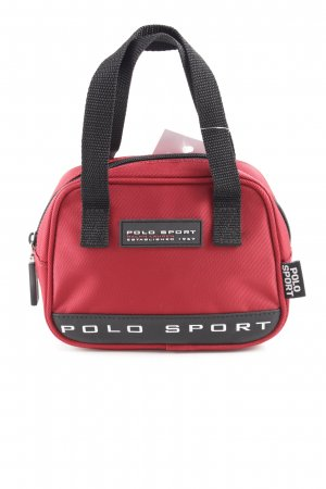 Polo Sport Mini Bag red-black printed lettering casual look