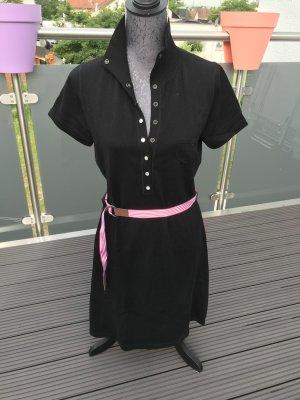 Polo Strickkleid Esprit schwarz