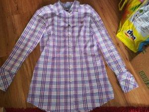 Polo Sylt Hemd Damen Größe L weiß violett
