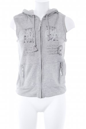 Polo sylt Hooded Vest light grey athletic style