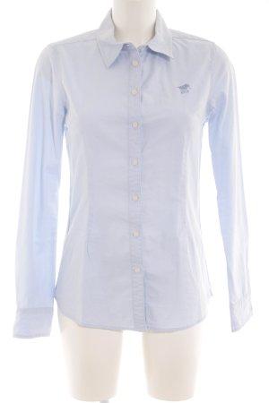 Polo sylt Langarm-Bluse himmelblau Casual-Look