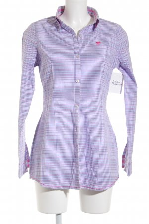 Polo sylt Langarmhemd Karomuster Casual-Look