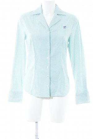 Polo sylt Langarmhemd mint-weiß Karomuster Casual-Look