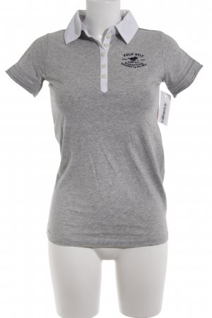 Polo sylt Camiseta tipo polo gris claro moteado look casual