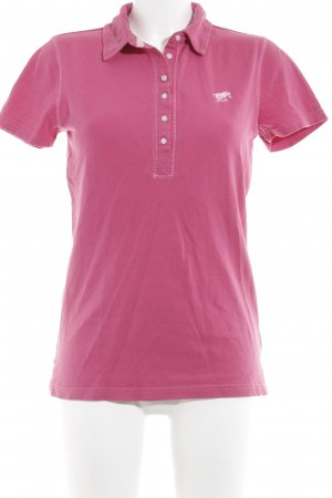 Polo sylt Polo-Shirt pink klassischer Stil