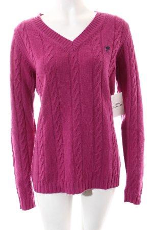 Polo sylt V-Ausschnitt-Pullover purpur klassischer Stil