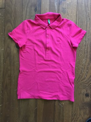 Benetton Polo shirt magenta Katoen