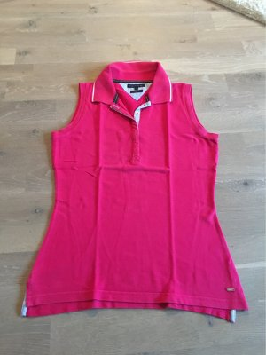 Tommy Hilfiger Polo Top magenta cotton