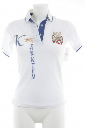 Polo Top white-blue athletic style