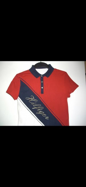 Tommy Hilfiger Polo blanc-rouge