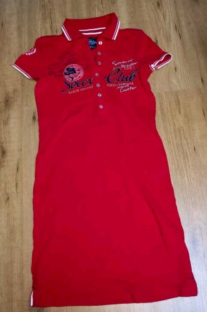 Soccx Polo Dress red