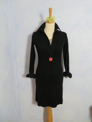 Polokleid Strickkleid Marc O'Polo Kleid 34 XS Schwarz Lieblingskleid aus Viskose