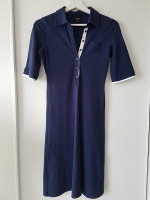 Esprit Vestido tipo polo blanco-azul oscuro
