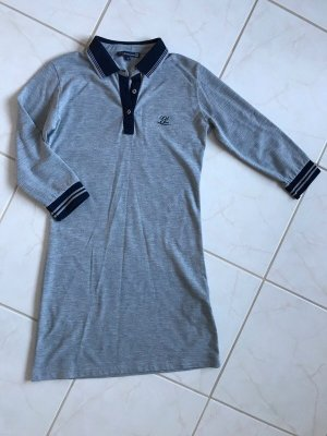 Giorgio di Mare Vintage Polo Dress light grey-dark blue