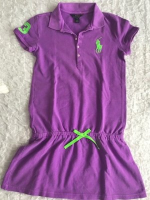 Polo Ralph Lauren Polo Dress blue violet-neon green cotton