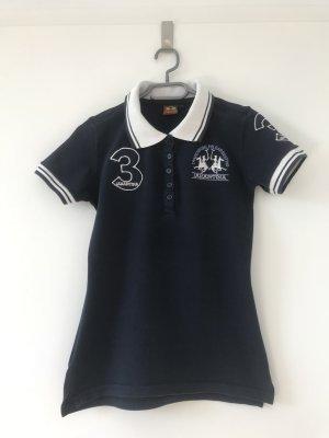 La Martina Polo Shirt dark blue-white