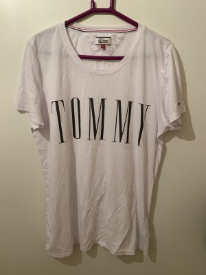 Tommy Hilfiger Denim Polo Shirt white-black
