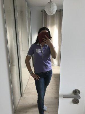 La Martina Polo violet-blanc