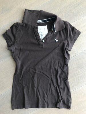 Abercrombie & Fitch Camiseta tipo polo marrón oscuro