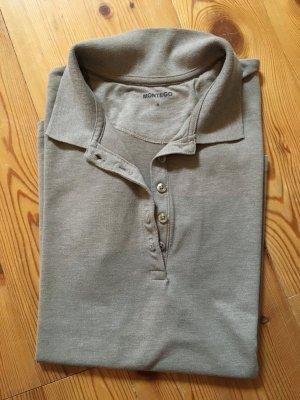 Poloshirt beige / schlammfarben Gr. S