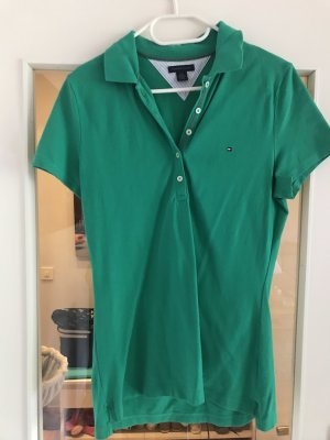 Tommy Hilfiger Polo Shirt dark green cotton