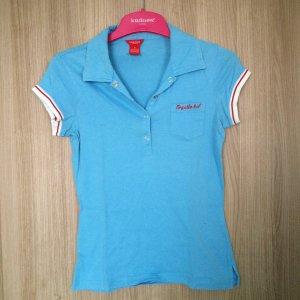 Poloshirt der Firma Kenvelo, Größe S, Farbe: blau/rot