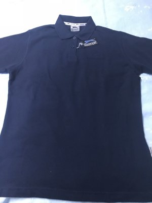 Camiseta tipo polo azul oscuro