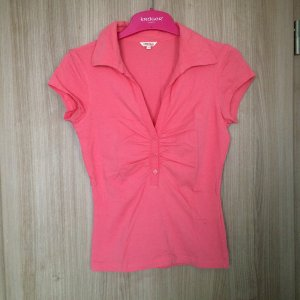 Poloshirt geknöpft, Farbe: corale, Größe: M Marke Kenvelo