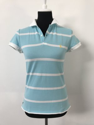 Poloshirt hellblau weiß Gr. M