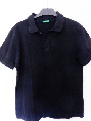 Poloshirt in Schwarz von Benetton | gerader Schnitt