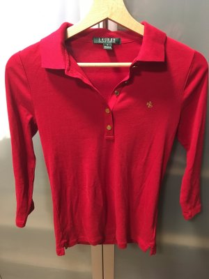 Lauren by Ralph Lauren Polo Shirt red-gold-colored cotton