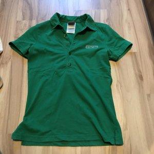 Poloshirt Oberteil gestreift von Carhartt Shirt Polo Größe XS S 34 36 grün