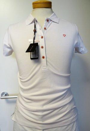Polo shirt wit Katoen