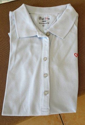 Polo shirt azuur Katoen