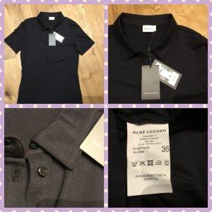 René Lezard Camiseta tipo polo negro Algodón