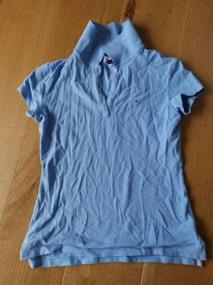 Tommy Hilfiger Polo shirt azuur Katoen