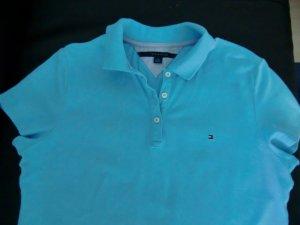 Tommy Hilfiger Polo shirt turkoois Katoen