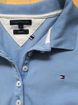 Poloshirt Tommy Hilfiger hellblau Longsleeve Shirt S