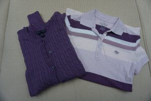 Tommy Hilfiger Cardigan purple-natural white cotton